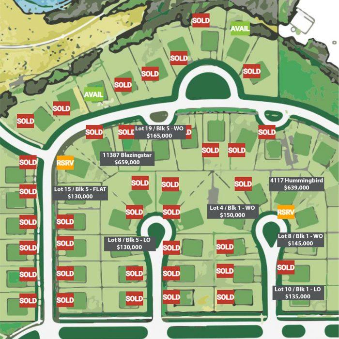 Wildflower Lot Map