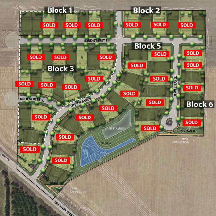 Parkview Pointe Lot Map